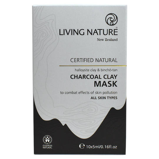 Living Nature Charcoal Clay Mask,10x5ml,  (best before June 21)