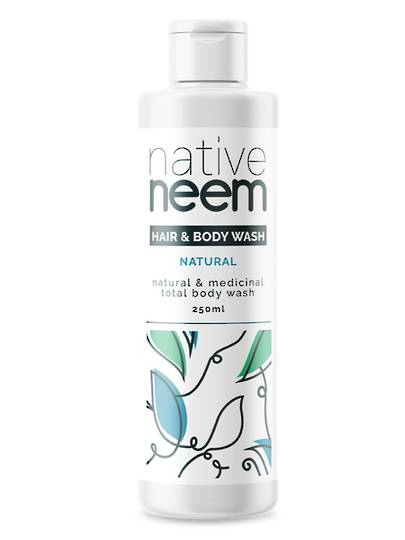 Native Neem Organic Neem Hair and Body Wash, 250ml