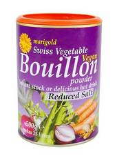 Marigold Salt Reduced Vegan Bouillon, 150g (purple tub) LESS SALT