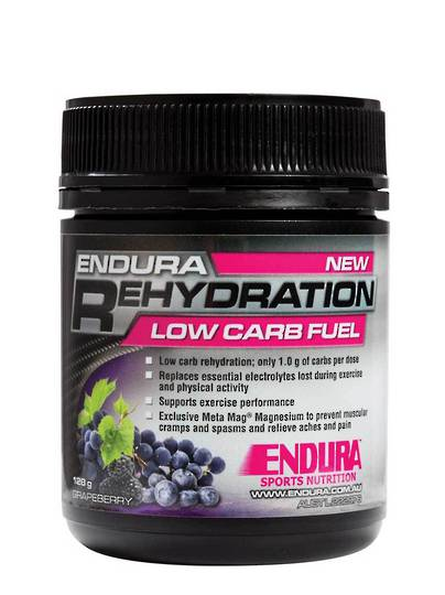 Endura Rehydration Low Carb Fuel , 122g  (met.Approx. 32 serves)