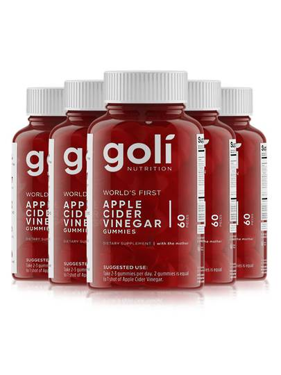 Goli Apple Cider Vinegar Gummies, 5 Month Supply