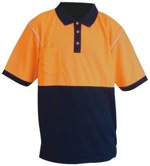 Glow Polo Orange/Navy Microfibre Day Only