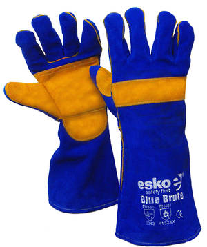 Blue & Gold Kevlar Welding Glove - Blue Heeler
