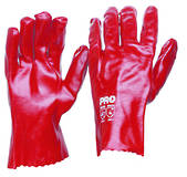 Red PVC Glove Short (27cm)