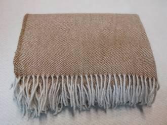 Pure Wool Throw - Caramel