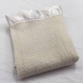 Thermacell Merino Buggy Blanket - Ivory