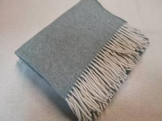 Pure Wool Throw - Forest