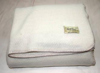 Cream with blanket stitch