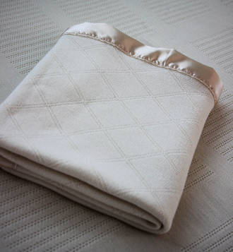 Thermaweave Merino Blankets with Satin - Diamond Pattern