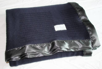 Graphite Super Merino Wool Thermaweave Blankets -  (Square Pattern)