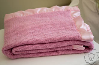 Merino Pink with satin edge