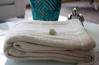 Merino Ivory with woven edge