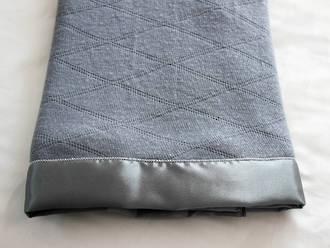 Thermaweave Merino Blankets with Satin - Grey Diamond (Second Grade)