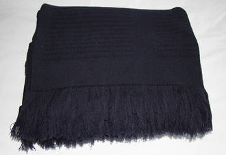 NZ Super Merino Wool Throw - Navy