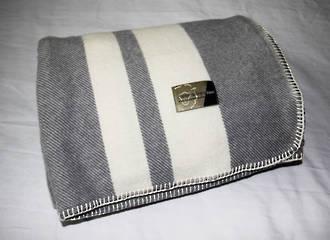 Pewter with Cream Stripe - Blanket Stitch