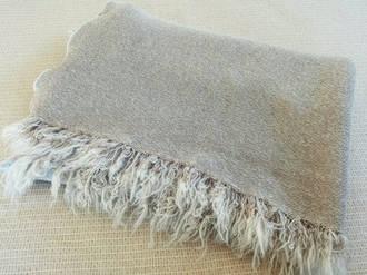Pure Wool Throw - Cinnamon