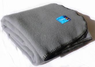 Pewter with Black Blanket Stitch Edge