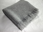 Heavy-Weight Wool Throw With Tissle