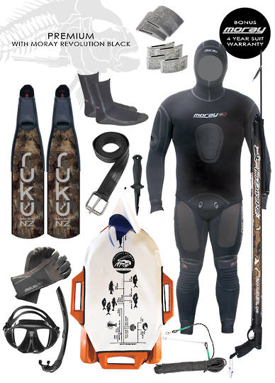 Premium Spearfishing Package | Black