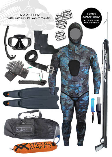Traveller Spearfishing Package | Pelagic Reef Camo