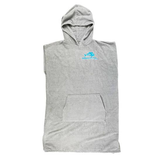 Ocean Hunter Hooded Poncho - Medium Grey