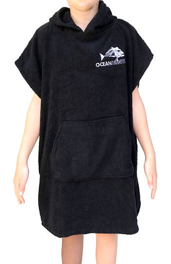 Ocean Hunter Youth Hooded Poncho - Small