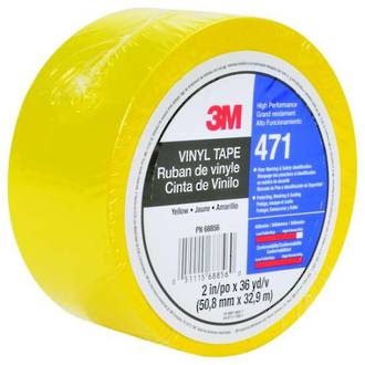 3M™ Vinyl Tape 471 25mm x 33m Yellow