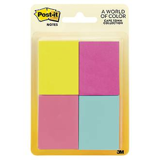 3M Post-It Notes 3M653-4AF Cape Town 4 pk
