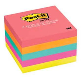 3M Post-It Notes 654 Cape Town 5 pk