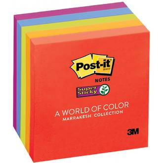 3M Post-It Notes 654 Super Sticky 5pk