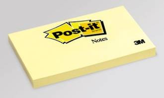 3M Post-It Notes 655 Yellow