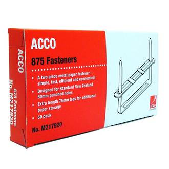 Acco Paper Fasteners 875 75mm 2 Piece