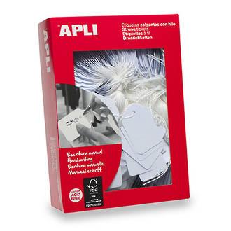 Apli 390 Strung Tickets 22x35mm White 500pk