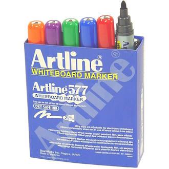 Artline 577 Whiteboard Marker 2mm Bullet Nib 12 Assorted Colours