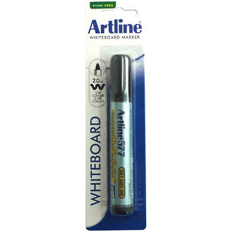 Artline 577 Whiteboard Marker 2mm Bullet Nib Hangsell Black