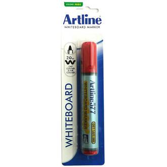 Artline 577 Whiteboard Marker 2mm Bullet Nib Hangsell Red