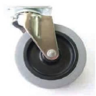Castor Industrial 76mm Plate