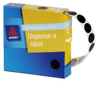Avery DMC14BL 14mm Circle Black Labels