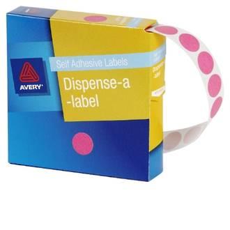 Avery DMC14P 14mm Circle Pink Labels
