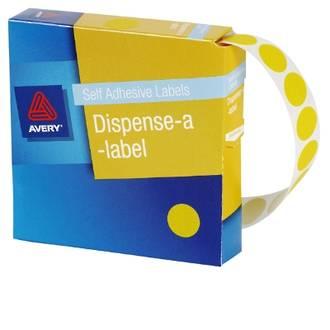Avery DMC14Y 14mm Circle Yellow Labels