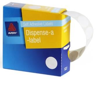 Avery DMC18W 18mm Dia Circle White Labels