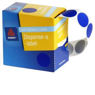 Avery DMC24B 24mm Circle Blue Labels