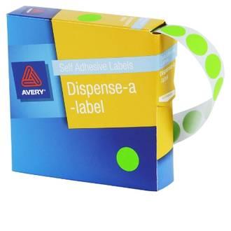 Avery DMC24FG 24mm Circle Fluoro Green Labels