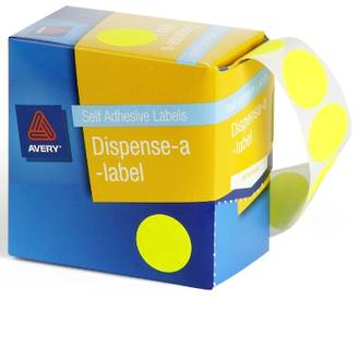 Avery DMC24FY 24mm Circle Fluoro Yellow Labels