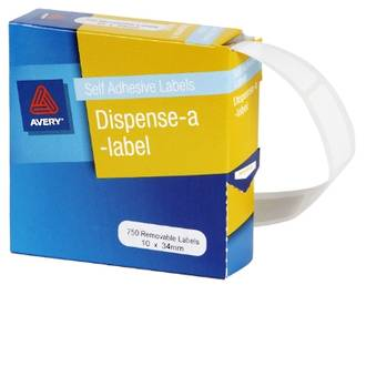Avery DMR1034W 10x34mm Rectangle Labels
