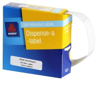 Avery DMR1349W 13x49mm Rectangle Labels