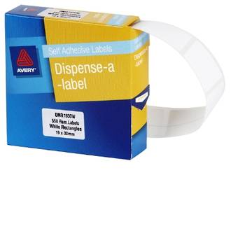Avery DMR1930W 19x30mm Rectangle Labels