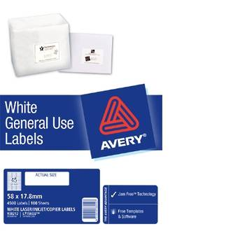 Avery L7156 General Use (Dl45) 58x18mm