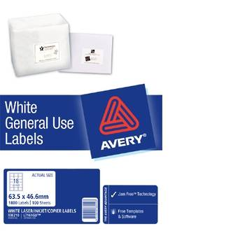 Avery L7161 General Use (Dl18) 64x47mm