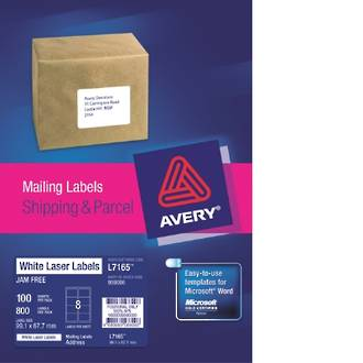 Avery L7165-100 True Block 8up 99x68mm